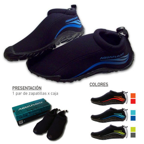 botas zapatillas neoprene anfibias 4mm aquafloat