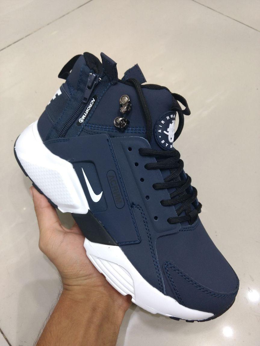 reputable site ac857 bc4c7 botas zapatillas nike air huarache acrnm azul oscuro hombre. cargando zoom.