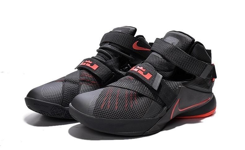 6c571491c4874 Botas Zapatillas Nike Lebron Soldier 9 Negra Naranja Hombre ...