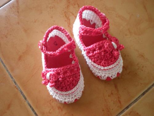 botas, zapatos tejidos para bebé