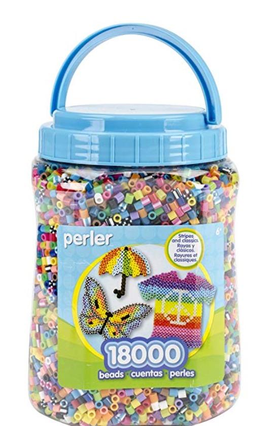 Bote 18000 Pzas Perler Beads Colors