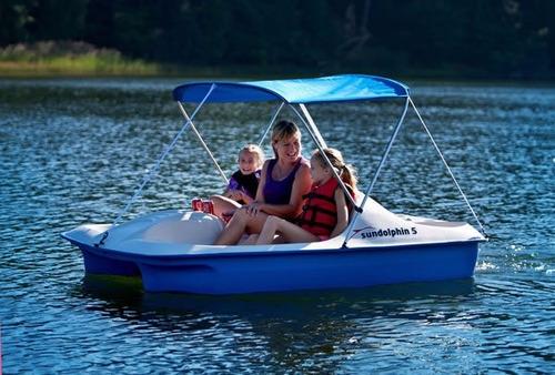 bote a pedales marca sundolphin para 5 personas, nuevo