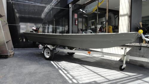 bote aluminio americano polar kraft casco chata pesca nautic