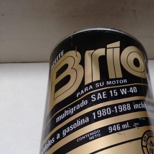 bote antiguo (lleno aún) de 1 litro de aceite