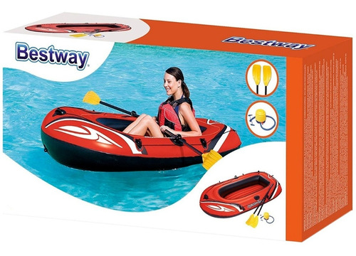 bote balsa inflable 196x114cm con remos hydro force bestway