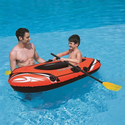 bote balsa inflable 61078 de 155x97cm con remos bestway