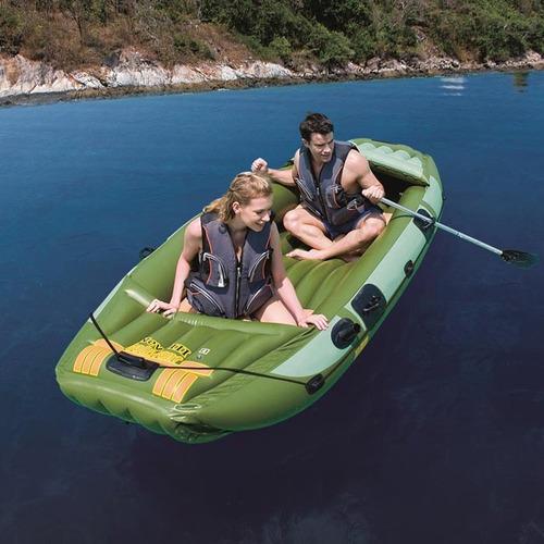 bote barco bestway neva iii inflable  para 3 portacañas pesc