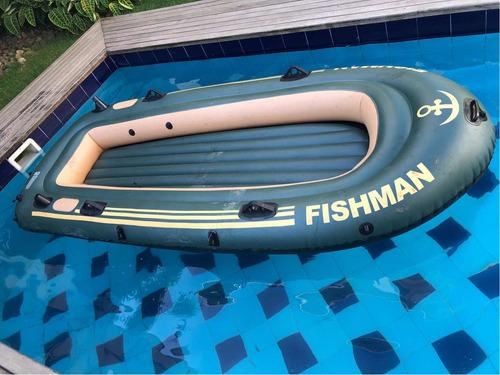 bote barco inflável fishman