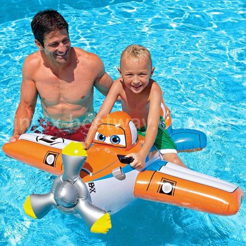 bote boia formato de avião infantil piscina 119cm