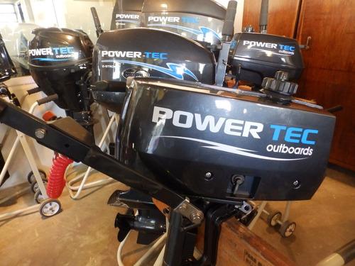 bote chinchorro y motor power tec 2,2 hp  nautica milione 1