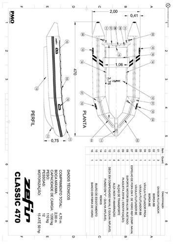 bote classic 470 0km - infláveis zefir - marina atlântica