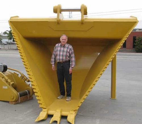 bote cucharon v ditch digging trapezoidal para excavadoras