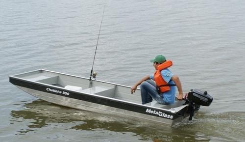 bote de aluminio chatinha 350 metal glass - potencia max 5hp