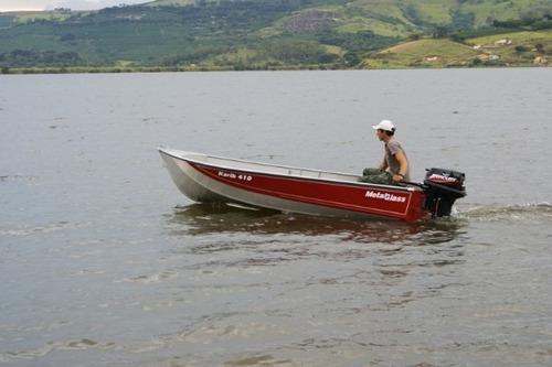 bote de aluminio karib 410 metal glass - potencia max 18 hp