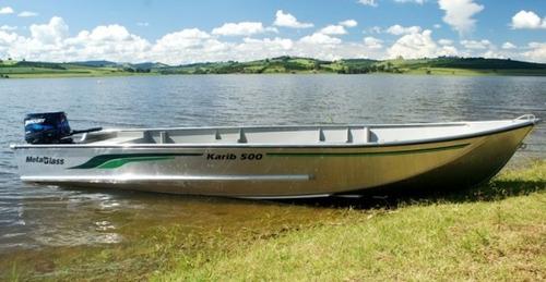 bote de aluminio karib 500 metal glass - potencia max 30 hp