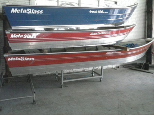 bote de aluminio metal glass aruak 400  !!!