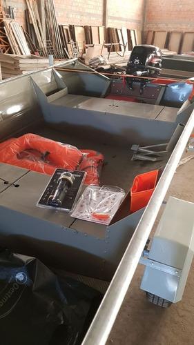 bote de aluminio rigon burica 600 (nuevo) verde y rojo