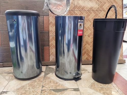 bote de basura de 30 litros de acero inoxidable con pedal