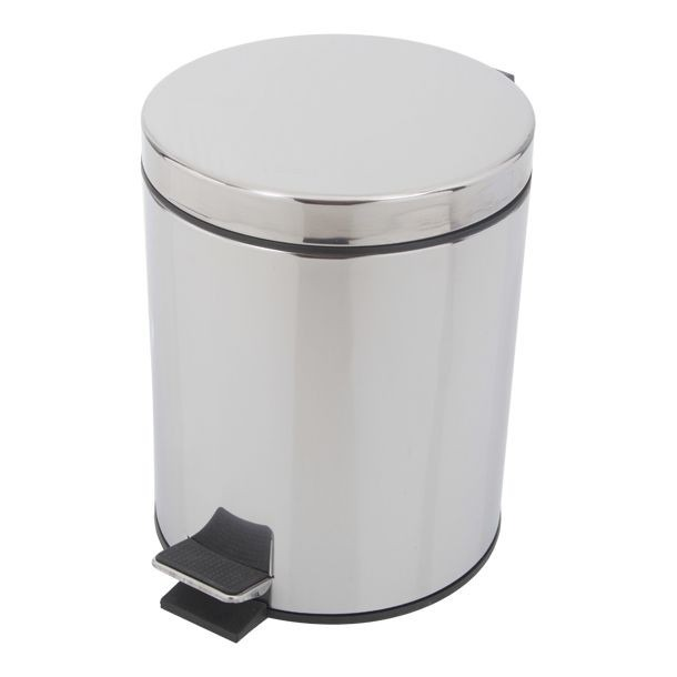 Bote de basura de acero inoxidable de 5l para ba o cocina for Jaboneras para bano de acero inoxidable