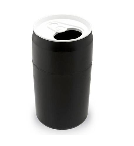 bote de basura en forma de lata color negro nuevo