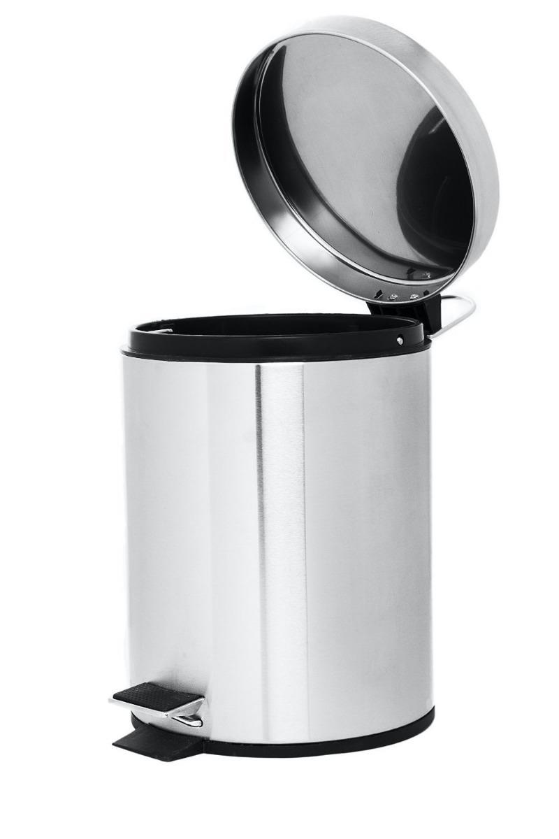 Bote de basura para ba o con tapa pedal envio gratis for Objetivo de bano de basura