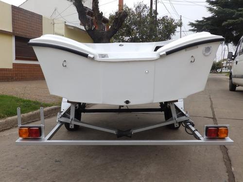 bote de lujo map 380 trailer motor 2,2 hp nautica milione 2