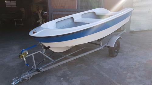 bote de lujo map 380 trailer motor 2,2 hp nautica milione 3