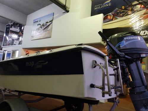 bote de lujo map 380 trailer motor 2,2 hp nautica milione 7
