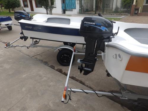 bote de lujo map 380 trailer y motor 15 hp nautica milione 4