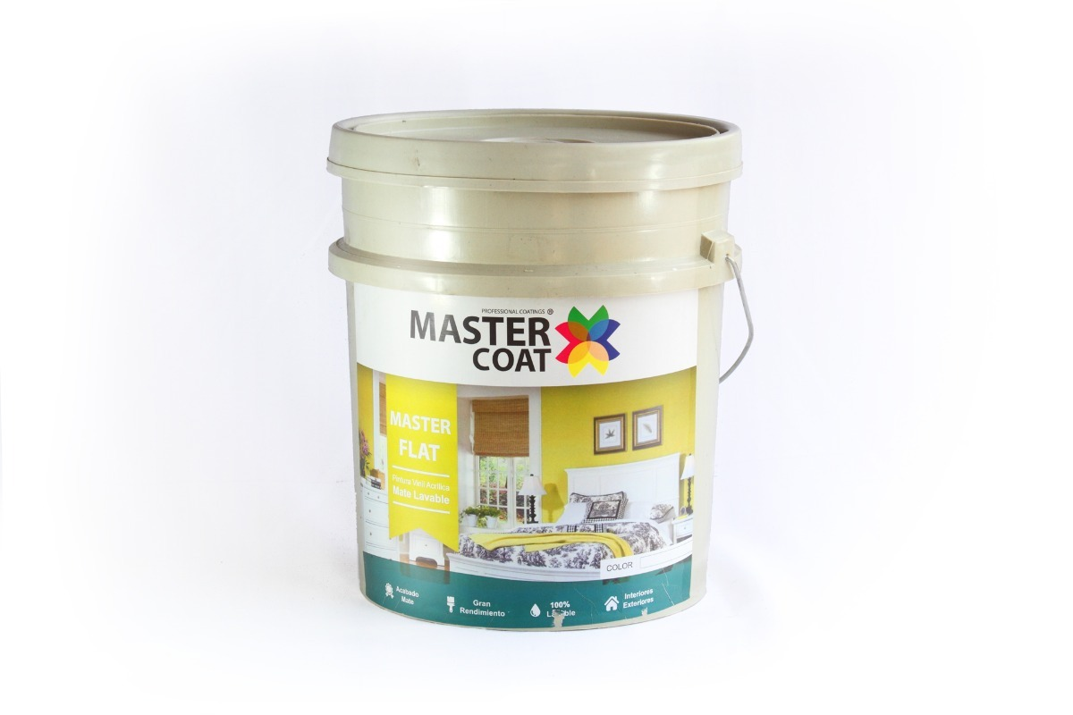 Bote de pintura vinilica lavable 4lts flat mejor que comex - Mejor pintura para interiores ...
