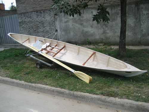 bote de remo doble par  con timonel 2017 okm