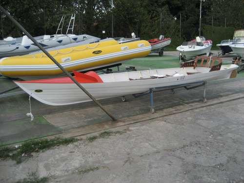 bote de remo par simple  con timonel 2016 okm