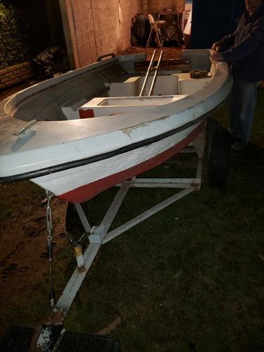 bote doble casco  motor 4hp mercury 2t