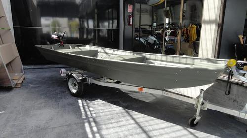 bote en aluminio polar kraft rio pesca travesia seguro
