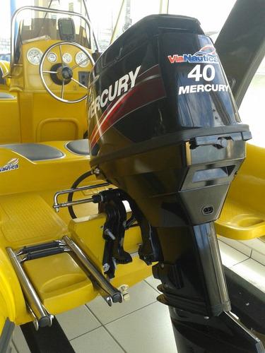 bote euroflex 4.0m motor mercury 40hp com targa e console