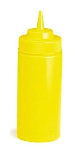 bote exprimible dispensador boca ancha 16 oz mostaza