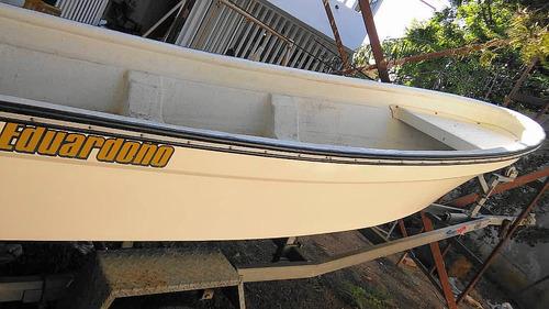 bote fibra de vidrio 14 pies con motor yamaha 40 hp remolque