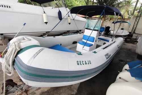 bote flexboat sr-500 lx - envirude etec 115 hp (2008/2010)
