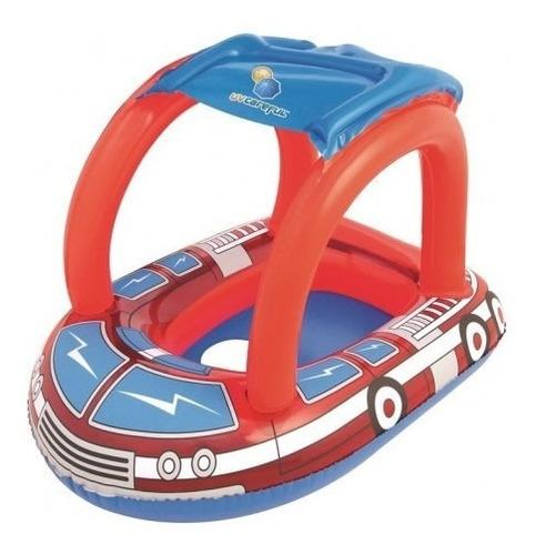 bote flotador bebe pileta bombero techo inflable pileta