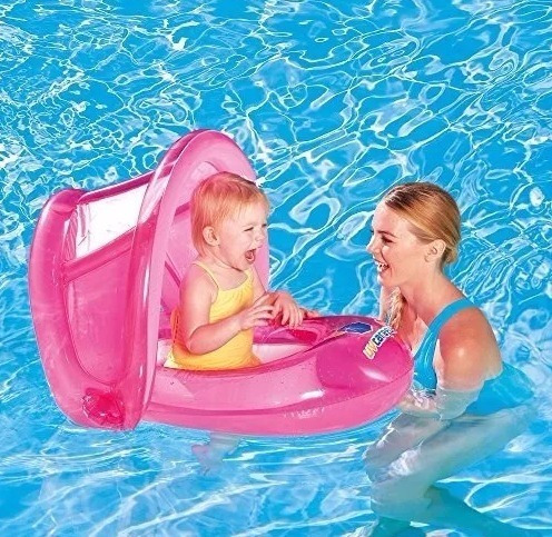 bote flotador bebe pileta techo inflable pileta