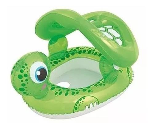 bote flotador bebe pileta tortuga techo inflable pileta