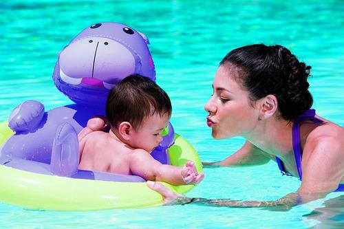 bote flotador bebe silla salvavidas pileta inflable niños