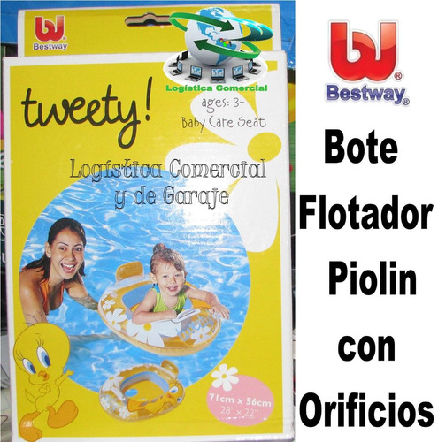bote flotador infantil con orificios piolin 97024 0-3 años