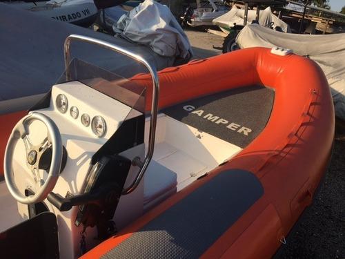 bote gamper 500 com motor 60hp mercury - marina atlântica