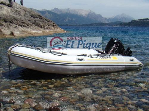 bote gomón desarmable albatros 4 m. náutica el pique - quilm