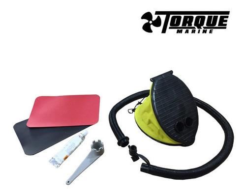 bote gomon inflable torque marine 2.00 m con soporte p motor