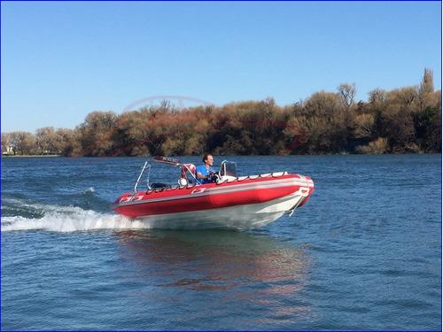 bote gomon semirrigido 490 con motor equipado 4 t apto lagos