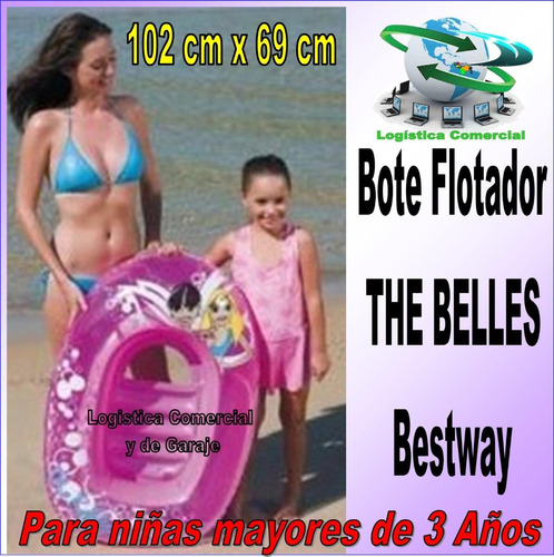bote infantil inflable flotador para niñas bestway 102x69c