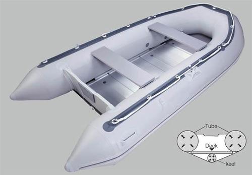 bote inflable con de aluminio quilla inflable 4.20m usado c1