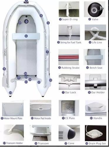bote inflable con piso de aluminio quilla inflable 2.70 mtc